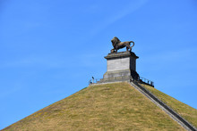The Lion On The Mound Monument On The Mount Of Waterloo, Belgium