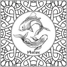 Pisces, Fish. Decorative Zodia...