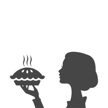 Housewife Holding Pie, Woman H...