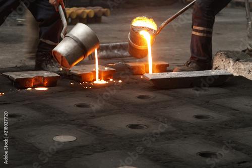 Fototapeta steel casting workers obraz