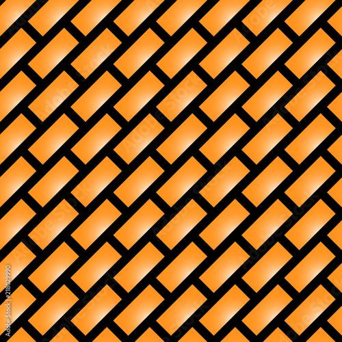 Fotografía  Glossy gradient brick (diagonal) seamless pattern