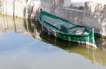 Small Old And Old Boat Moored