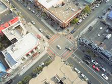 Aerial View Rainbow Crosswalk ...