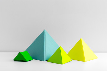 Abstract colorful geometrical background close up soft focus