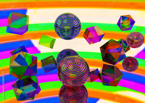 Fotografia, Obraz  Abstract consept acid drop, sugar-candy, plastic lolipop