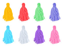 Set Of Beautiful Multi-colored Brushes