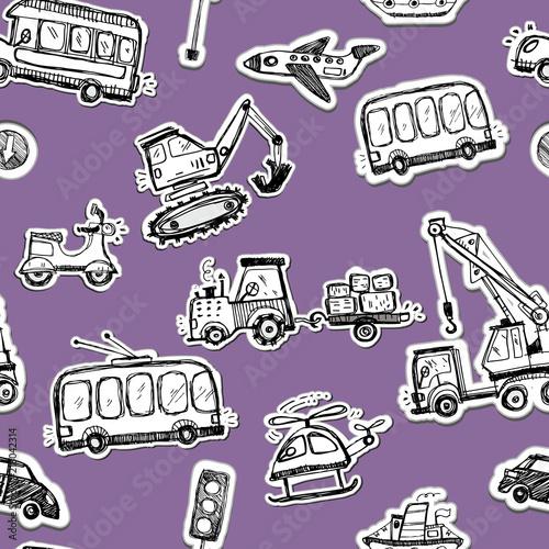 wzor-szkicowane-pojazdy