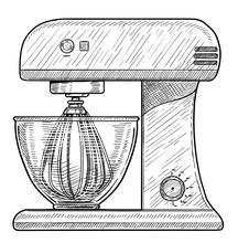 Stand Food Mixer Illustration,...