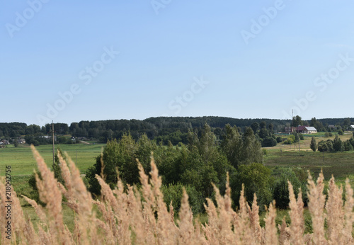Tuinposter Khaki Landscape nature against the sky
