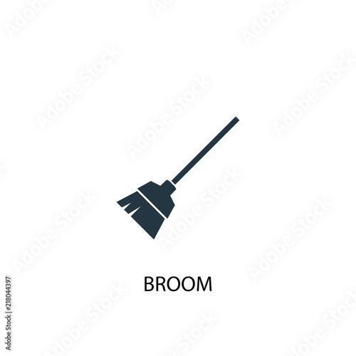 broom creative icon  Simple element illustration  broom concept