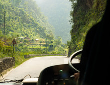 Bus Ride On Prithvi Highway Be...