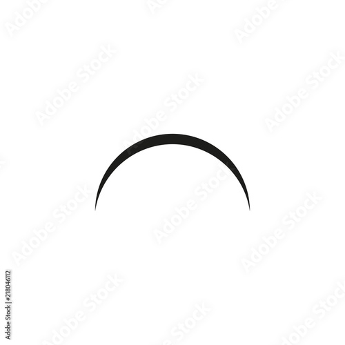 Photo arch on white background