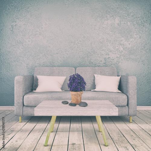 Skandinavisches Nordisches Wohnzimmer Sofa Couch