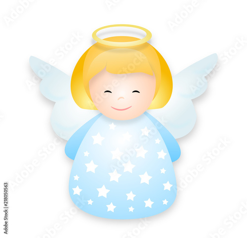 cute angel illustration Wallpaper Mural