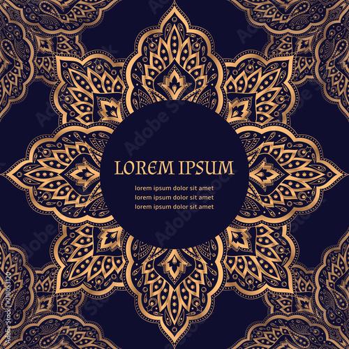 Luxury Background Vector Paisley Royal Pattern Frame Turkish