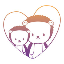 Cute Porcupines In A Heart Ove...