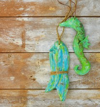Driftwood Paper Mache Fish And...
