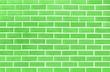 Leinwanddruck Bild - Green brick wall texture background material of industry building construction