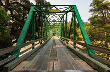 Looking Down A Iron Bridge
