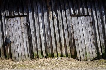 Old wooden plank doors