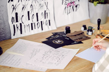 Calligraphic Drawings With Wat...