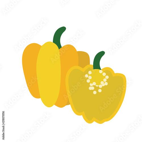 Fototapeta Nature organic vegetable Yellow Scotch bonnet pepper