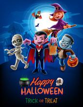Halloween Illustration Trick O...