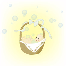 Baby Moses In Basket - Cute Il...