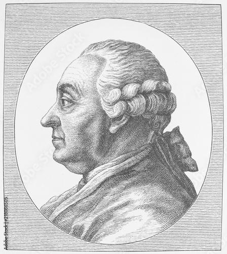 Stampa su Tela Johann Caspar Goethe, ca. 1777