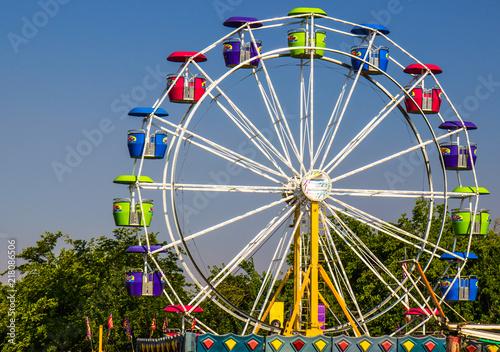 Fotografie, Obraz  Ferris Wheel At Small County Fair
