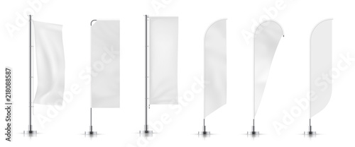 Cuadros en Lienzo  Vector set of different types banner flag
