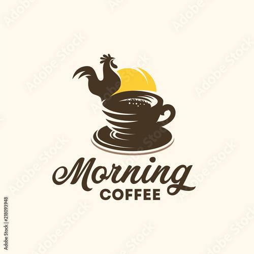 Morning coffee logo designs concept vector, Coffee Cafe logo template designs