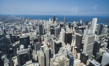 Chicago Skyline From The Top Of Willis Tower