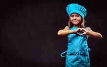 Happy Little Girl Dressed In B...