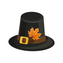 Woman Wearing Pilgrim Hat And Lipstick. Autumn Fox.