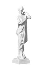 Statue Woman On A White Backgr...