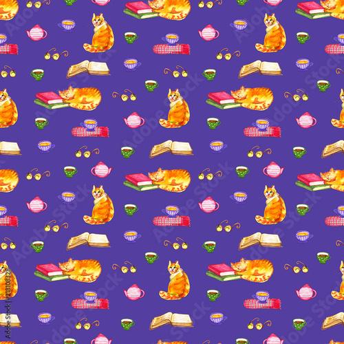 seamless wallpaper. Cartoon animals