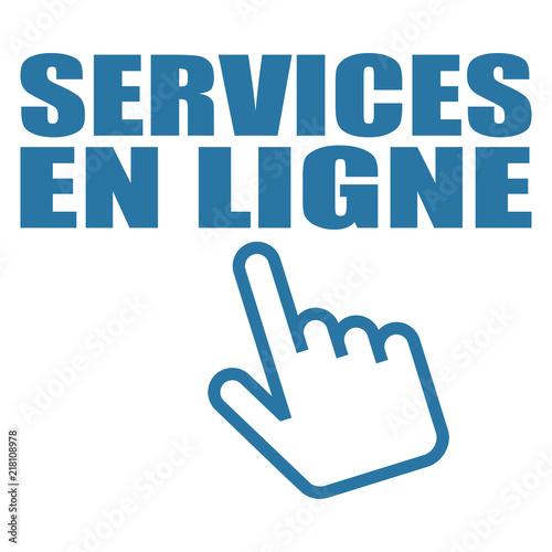 Logo services en ligne. Canvas Print
