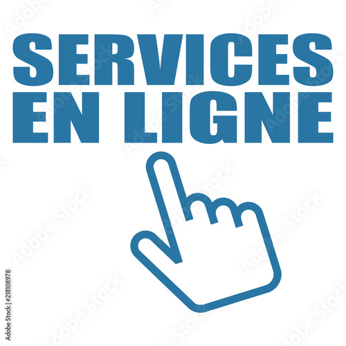 Logo services en ligne. Wallpaper Mural