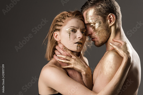 Fotografie, Obraz  Passionate couple embracing, boy and girl