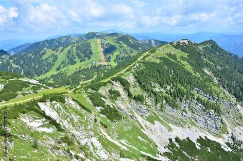 Foto op Canvas Olijf View from Hochkar - Austria