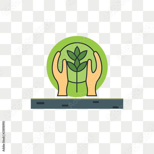 Fotografía  Conservation vector icon isolated on transparent background, Conservation logo d