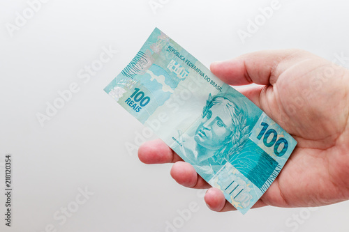 Note Of 100 Reais Cur Money Brazilian