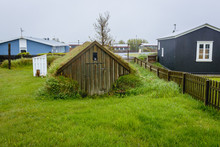Small Sod Cellar In Eyrarbakki, Small Village In Southern Iceland