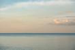 Ocean meeting Horizon at Sunset
