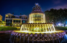 Golden Pineapple Fountain In B...