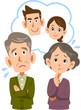息子夫婦に不安を覚える老夫婦