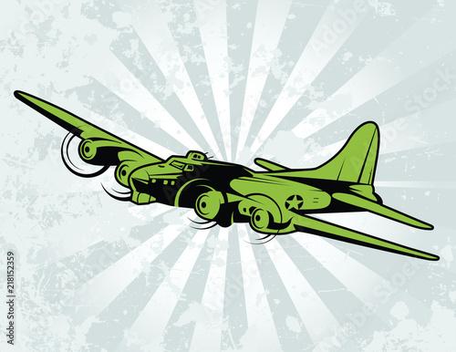 World War II Bomber Aircraft Canvas Print