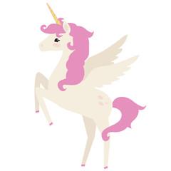 Cute unicorn vector cartoon illustration