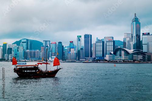 Stampa su Tela  Hong Kong Harbor View